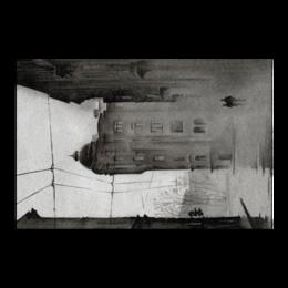 """Холст 50x75 """"Dark City"""" - рисунок, город, акварель, пары, прогулки"""