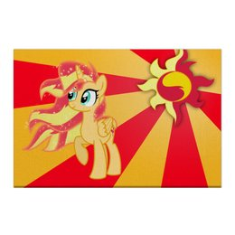 "Холст 50x75 ""Sunset Shimmer Color Line"" - sun, cutiemark, sunset shimmer"