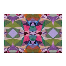 """Холст 50x75 """"Витраж"""" - голубой, фиолетовый, зеленый, розовый"""