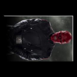 "Холст 50x75 ""Красный череп"" - комиксы, marvel, марвел, капитан америка, гидра"