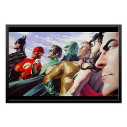 "Холст 50x75 ""Justice League/Лига Справедливости"" - comics, комиксы, batman, justice league, лига справедливости"