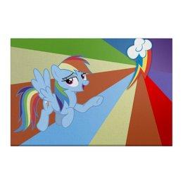 "Холст 50x75 ""Rainbow Dash Color Line"" - rainbow dash, magic, fim, cutiemark, friendship"