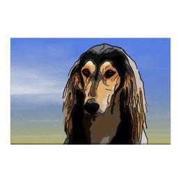 """Холст 50x75 """"Салюки"""" - животные, собаки, салюки, борза, персидская борзая"""