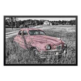 "Холст 50x75 ""Раритет 1"" - автомобиль, car, машина, раритет, пейзаж"