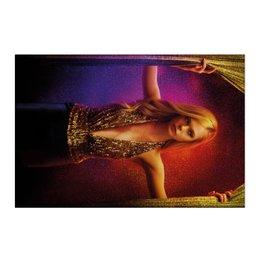 """Холст 50x75 """"Неоновый демон"""" - девушка, кино, мечта, модель, эль фаннинг"""