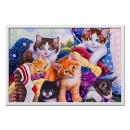 "Холст 50x75 ""Котятки "" - арт, няшки, кошатникам"