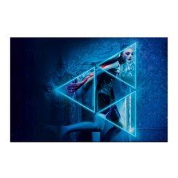 """Холст 50x75 """"Неоновый демон"""" - девушка, мечта, модель, эль фаннинг, neon demon"""