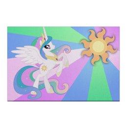 "Холст 50x75 ""Princess Celestia Color Line"" - magic, celestia, friendship, princess"