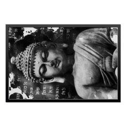 "Холст 50x75 ""Будда (Письмена)"" - философия, религия, buddha, духовность, будда"