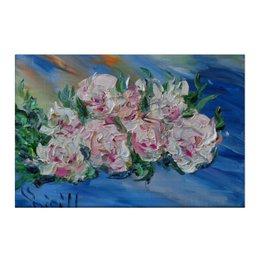 """Холст 50x75 """"Пионы"""" - красиво, весна, подарок, цветочки, пионы"""