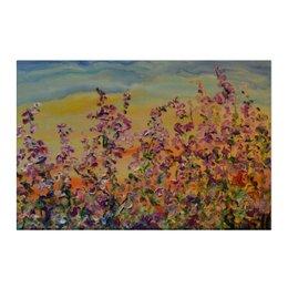 """Холст 50x75 """"Счастье"""" - счастье, трава, поле, луг, иван чай"""