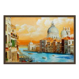 """Холст 50x75 """"Венеция Гранд канал """" - арт, италия, искусство"""