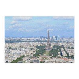 """Холст 50x75 """"Париж - город любви"""" - любовь, франция, путешествия, париж, эйфелева башня"""