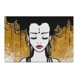 """Холст 50x75 """"Golden (vol.2)"""" - любовь, девушка, рисунок, золотой, релакс"""