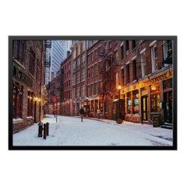 """Холст 50x75 """"Зима в New York"""" - new york, winter, зима, город, snow, погода"""