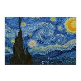 "Холст 50x75 ""Звездная ночь"" - картина, искусство, вангог, звезнаяночь"