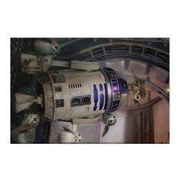 "Холст 50x75 ""Звездные войны - R2-D2"" - звездные войны, фантастика, кино, дарт вейдер, star wars"