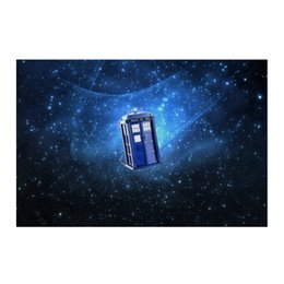 "Холст 50x75 ""Тардис"" - doctor who, tardis, bbc, доктор кто, тардис, докторкто"