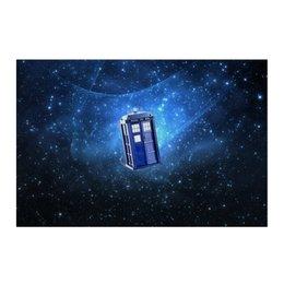 """Холст 50x75 """"Тардис"""" - doctor who, tardis, bbc, доктор кто, тардис, докторкто"""