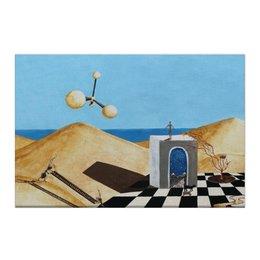 """Холст 50x75 """"Иной мир"""" - сюрреализм, другие миры, дверь в иной мир, другая реальность"""