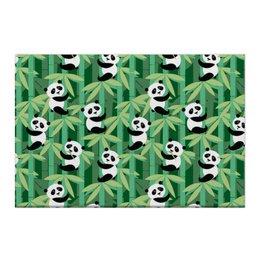 "Холст 50x75 ""Жизнь панд"" - узор, животные, панда, лес, бамбук"