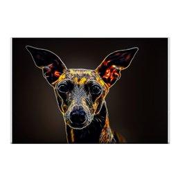 """Холст 50x75 """"Левретка"""" - арт, животные, собака, холст, левретка"""