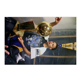 "Холст 50x75 ""Stephen Curry"" - баскетбол, nba, нба, golden state warriors, стефен карри"