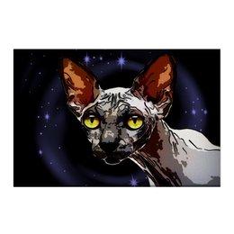 "Холст 50x75 ""Инопланетянин"" - кошка, космос, животное, сфинкс"