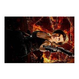 """Холст 50x75 """"Обитель зла"""" - зомби, фантастика, resident evil, вирус, милла йовович"""