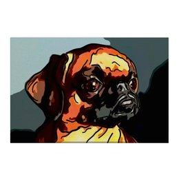 """Холст 50x75 """"Брабансон"""" - животные, собаки, пти-брабансон, брюссельский гриффон, бельгийский гриффон"""