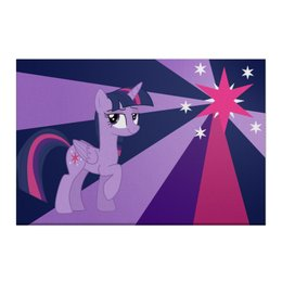 "Холст 50x75 ""Twilight Sparkle Color Line"" - twilight sparkle, cutiemark, princess"