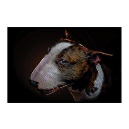 "Холст 50x75 ""Бультерьер"" - арт, собака, животное, бультерьер, bull terrier"