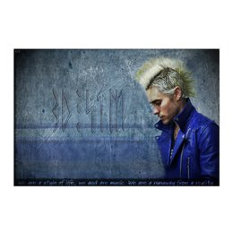 "Холст 50x75 ""Jared Leto 30 seconds to mars"" - музыка, арт, 30 stm, jared leto, rock"