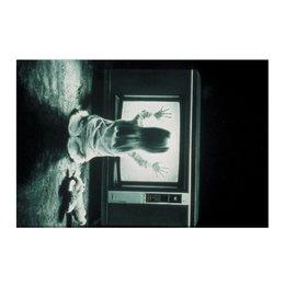 """Холст 50x75 """"Полтергейст"""" - страх, кино, призрак, ужасы, привидение"""