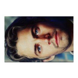 "Холст 50x75 ""Пол Уокер Paul Walker"" - форсаж, актер, пол уокер, paul walker, брайн оконнер"