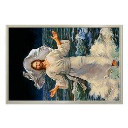 """Холст 50x75 """"Иисус Христос  """" - арт, религия, пасха, верующим"""