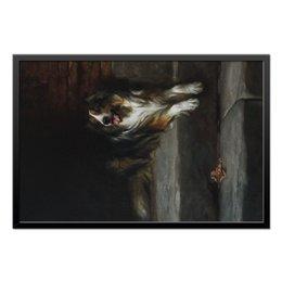 """Холст 50x75 """"Колли (картина Артура Вардля)"""" - картина, собака, колли, живопись, артур вардль"""