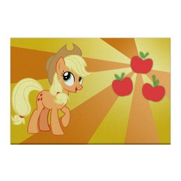 "Холст 50x75 ""AppleJack Color Line"" - magic, fim, applejack, cutiemark, friendship"