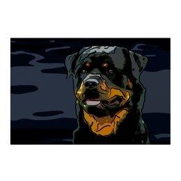 """Холст 50x75 """"Ротвейлер"""" - животные, собаки, ротвейлер"""