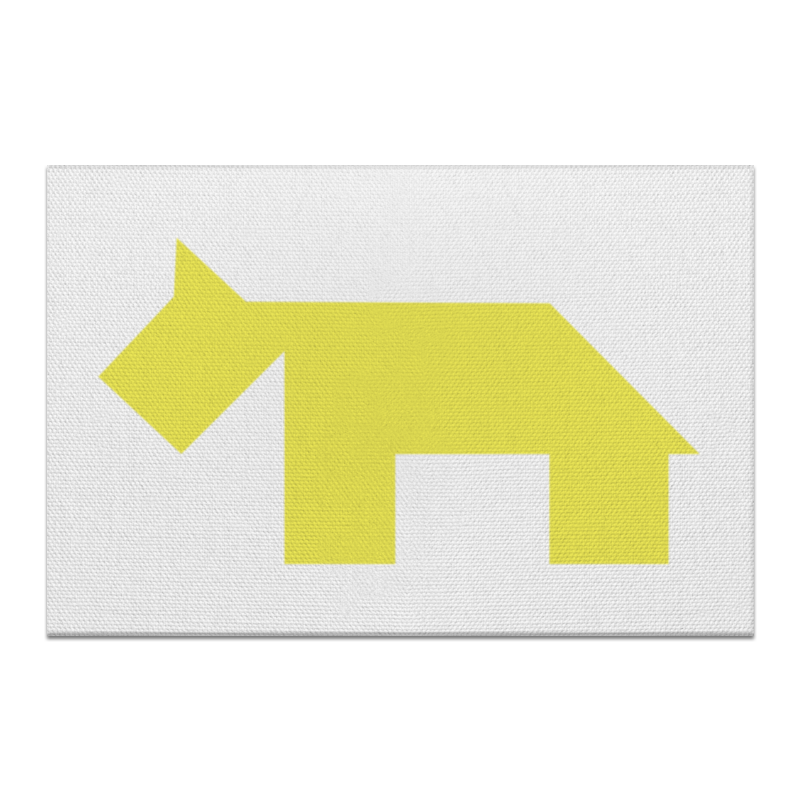 Холст 60x90 Printio Жёлтая собака танграм холст 40x55 printio жёлтая утка танграм