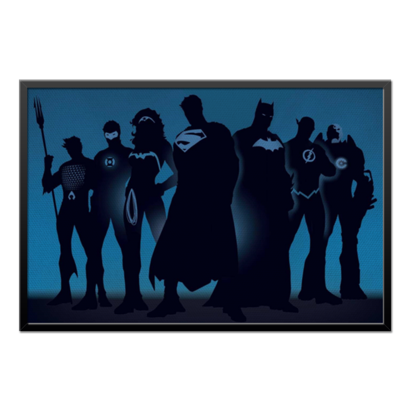 Холст 60x90 Printio Justice league/лига справедливости футболка рингер printio лига справедливости justice league