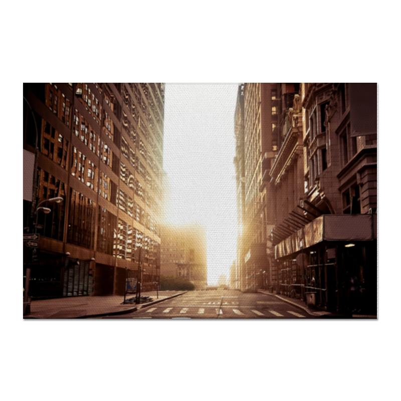 Холст 60x90 Printio Утренний урбан утренний свет m