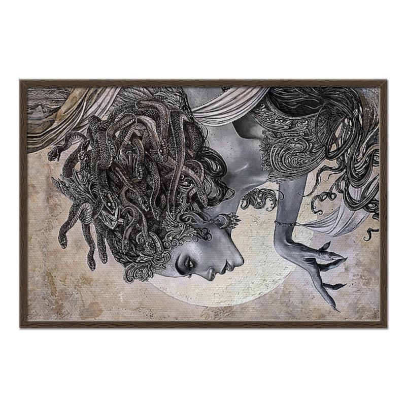 Холст 60x90 Printio Medusa gorgona часы круглые из дерева printio для салона красоты
