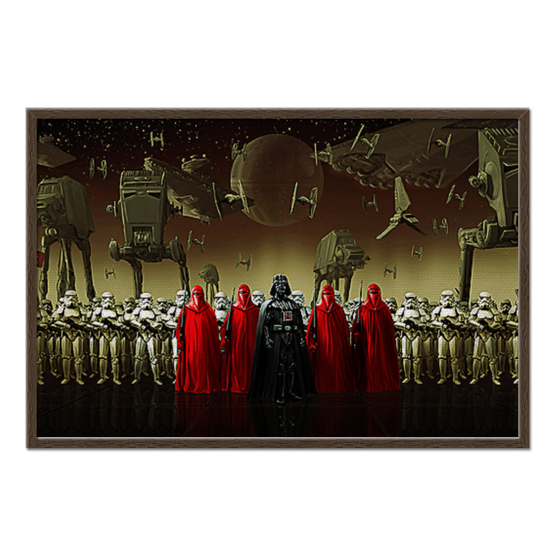 Холст 60x90 Printio Imperial army (star wars) in stock lepin 05034 2503pcs star imperial shuttle wars model building kit blocks bricks compatible children toy gift with 10212