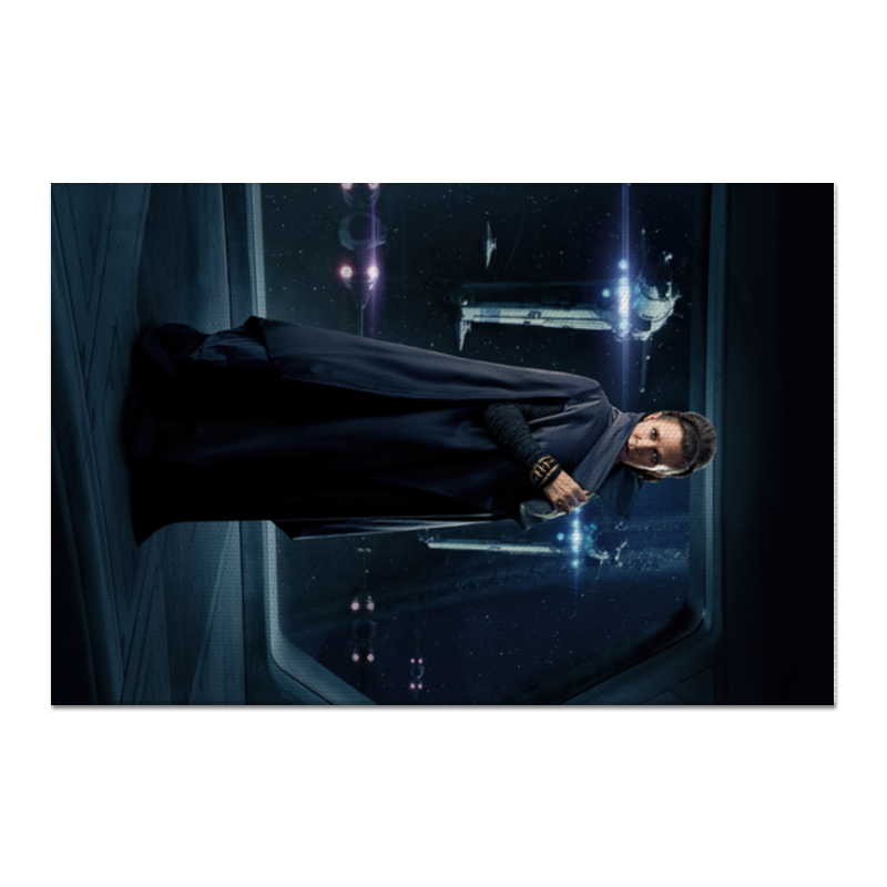 Холст 60x90 Printio Звездные войны - лея цена и фото