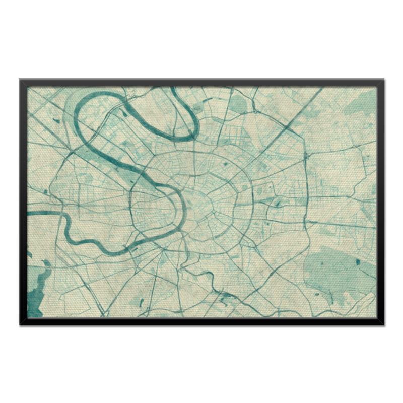Холст 60x90 Printio Карта москвы (винтаж) карта центрального административного округа москвы