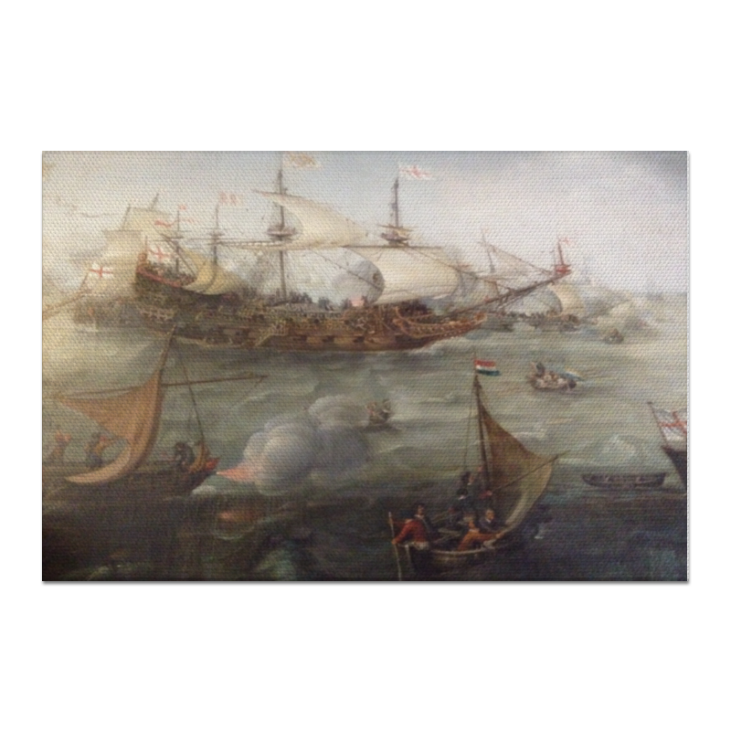 Холст 60x90 Printio Морской бой чехол для ноутбука 14 printio морской бой
