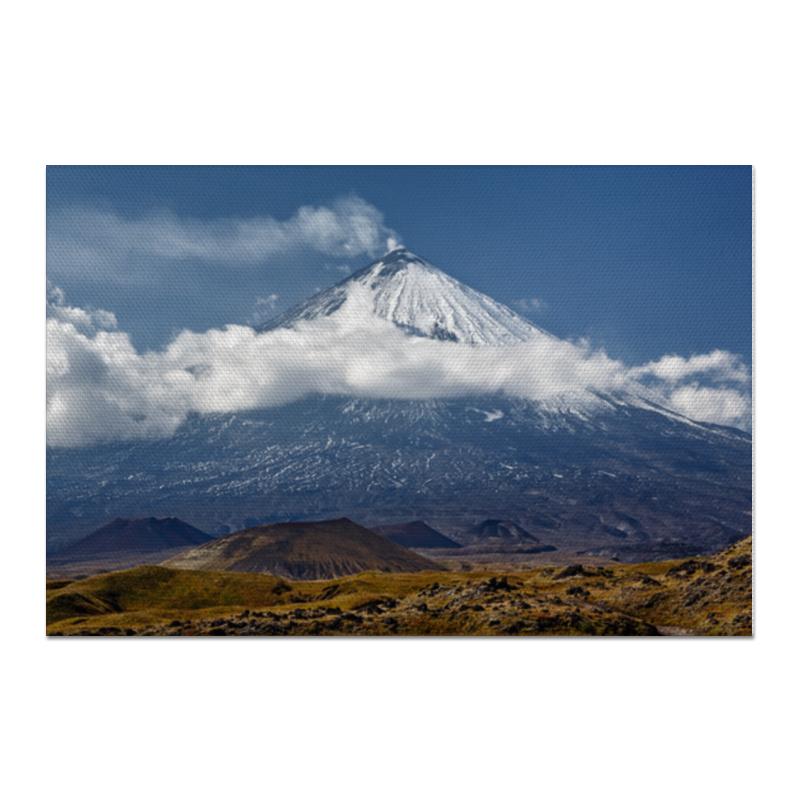 Холст 60x90 Printio Камчатка, осенний пейзаж, извержение вулкана