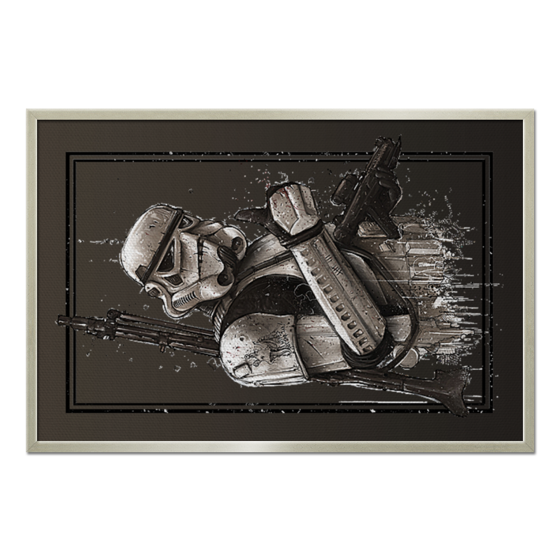 Холст 60x90 Printio Star wars design (stormtrooper) jazwares конструктор из бумаги star wars stormtrooper