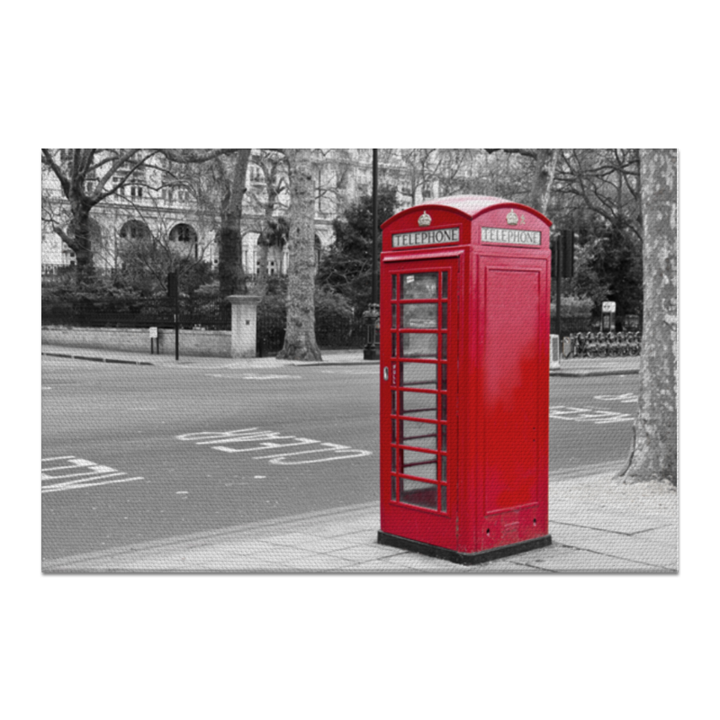 Холст 60x90 Printio London phone booth phone zedge